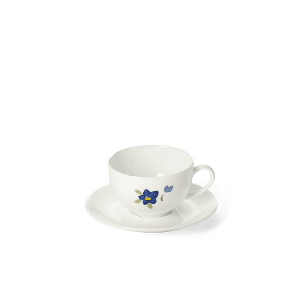 Impression (Blue Flower) - SET - Saucer & Espresso Cup 3.7 fl oz | 0.11L | Dibbern | JANGEORGe Interior Design