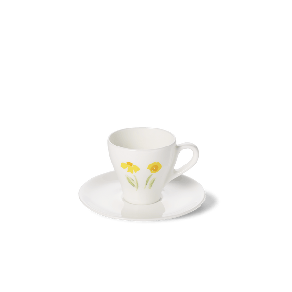 Impression (Yellow Flower) - SET - Saucer & Espresso Cup 3.7 fl oz | 0.11L | Dibbern | JANGEORGe Interior Design