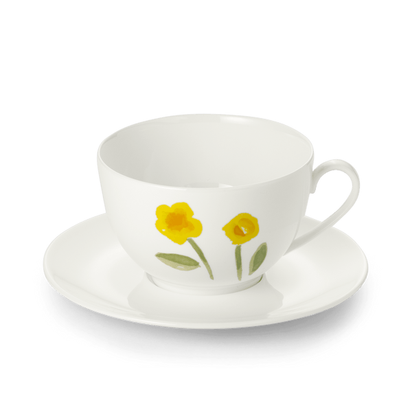 Impression (Yellow Flower) - SET - Saucer & Garnd Cup 13.5 fl oz | 0.4L | Dibbern | JANGEORGe Interior Design