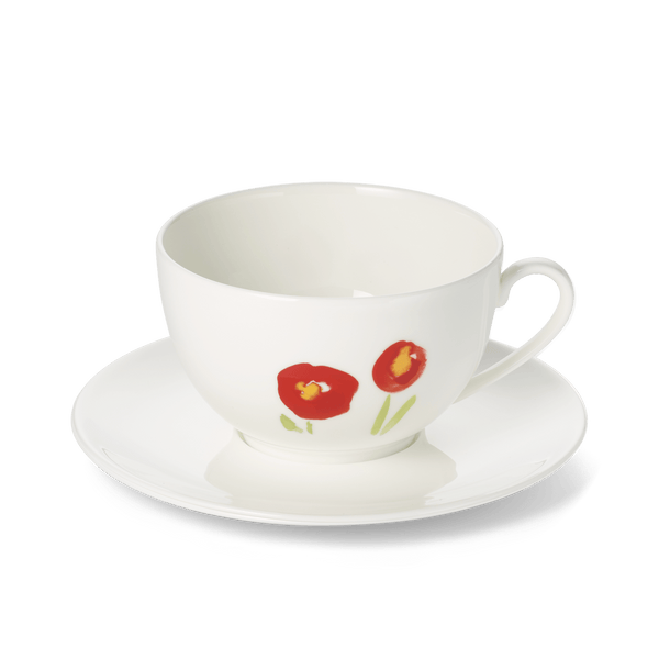 Impression (Red Poppy) - SET - Saucer & Grand Cup 13.5 fl oz | 0.4L | Dibbern | JANGEORGe Interior Design