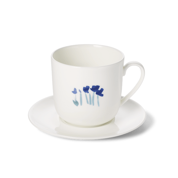 Impression (Blue Flower) - SET - Saucer & Mug 10.8 fl oz | 0.32L | Dibbern | JANGEORGe Interior Design