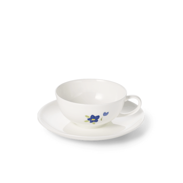 Impression (Blue Flower) - SET - Saucer & Tea Cup 6.8 fl oz | 0.2L | Dibbern | JANGEORGe Interior Design
