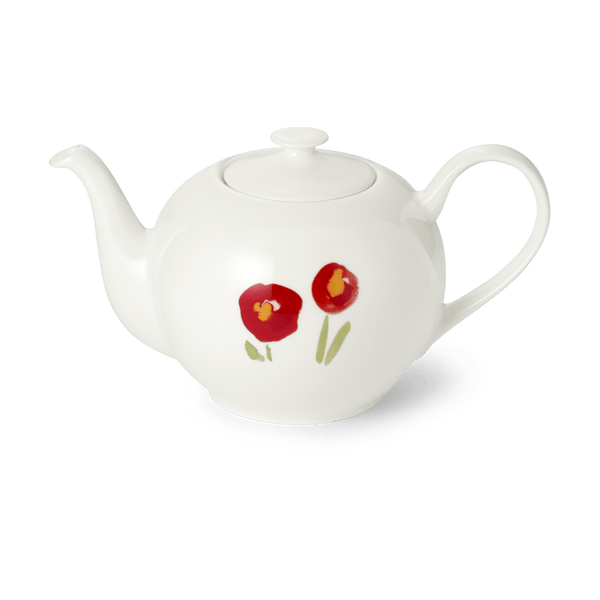 Impression (Red Poppy) - Teapot 30.4 fl oz | 0.9L | Dibbern | JANGEORGe Interior Design