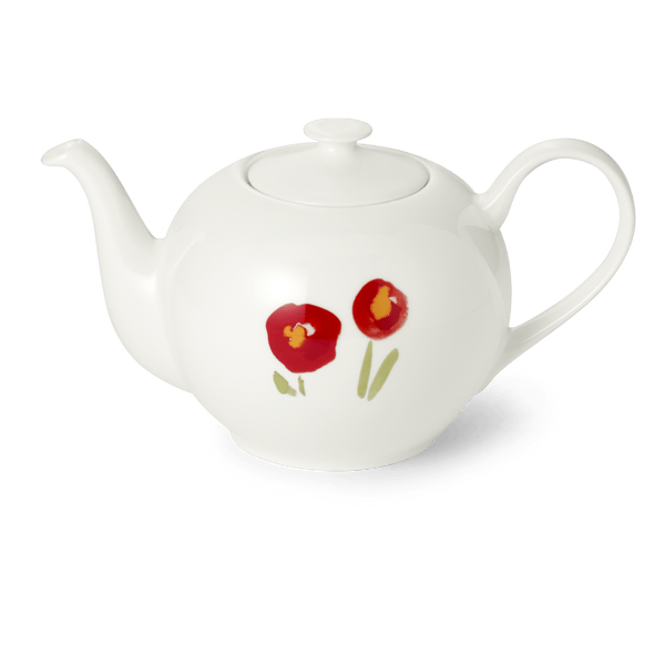 Impression (Red Poppy) - Teapot 44 fl oz | 1.3L | Dibbern | JANGEORGe Interior Design