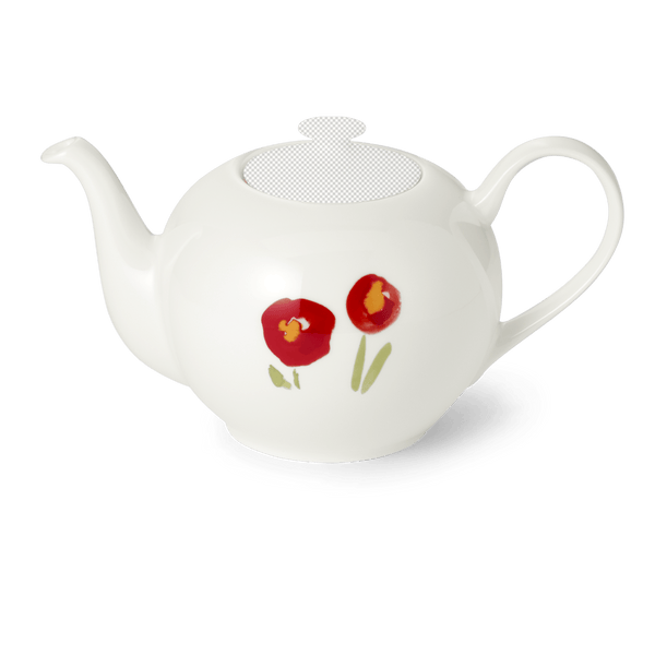Impression (Red Poppy) - Teapot Without Lid 44 fl oz | 1.30L | Dibbern | JANGEORGe Interior Design