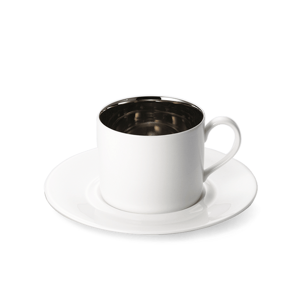 Platinum - SET - Coffee Cup Cylindrical & Saucer 0.25L