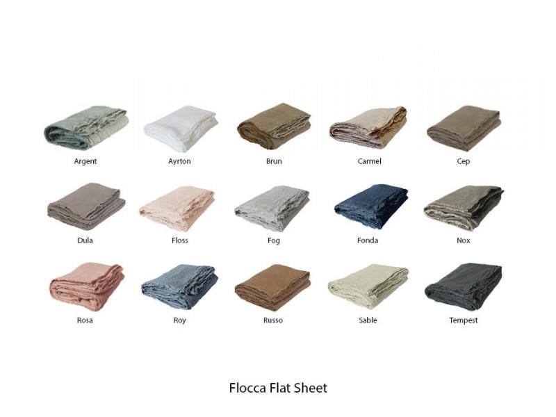 Flocca, Flat sheet by Hale Mercantile Co. | JANGEORGe Interior Design