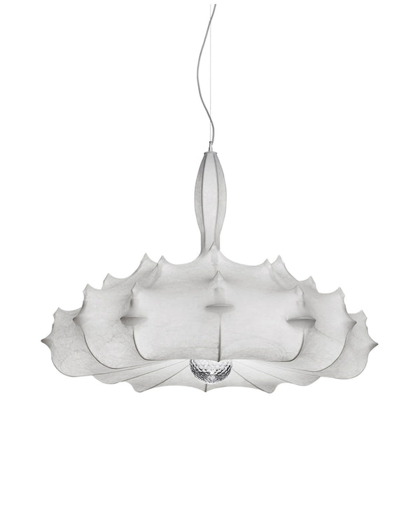 Zeppelin Chandelier Pendant Light made with Cocoon Material | Flos | JANGEORGe Interior Design