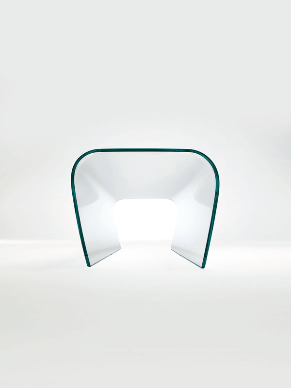 Bent - Glass bench and stool by Glas Italia | JANGEORGe Interior Design