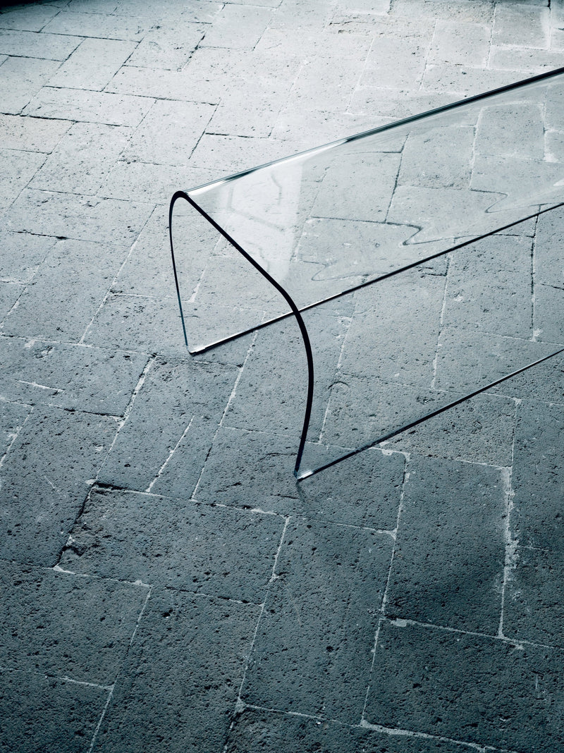 Bent Glass Bench and Stool | Glas Italia | JANGEORGe Interior Design