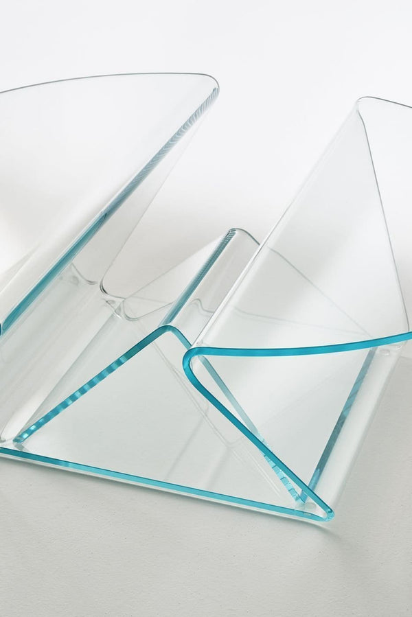 Plissé - Low Glass Table by Glas Italia | JANGEORGe Interior Design