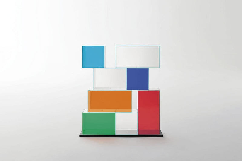 Quantum Glass Bookcase | Glas Italia | JANGEORGe Interior Design