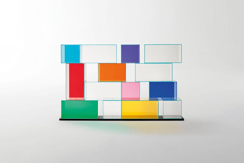 Quantum - Glass Bookcase by Glas Italia | JANGEORGe Interior Design
