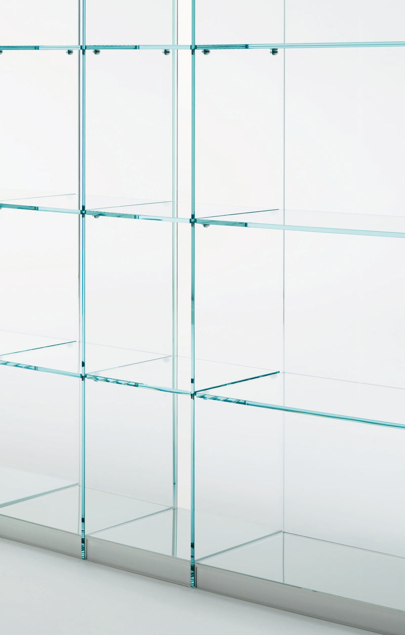 Space - Glass Bookcase by Glas Italia | JANGEORGe Interior Design