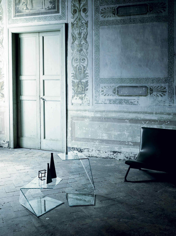 Harold and Maude Low Glass Table | Glas Italia | JANGEORGe Interior Design