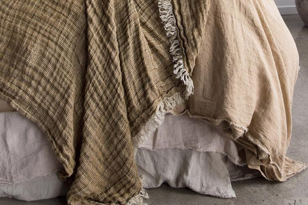 Crush Linen Throws | Hale Mercantile Co. | JANGEORGe Interior Design