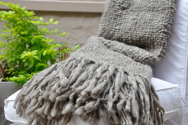 Flame - Chunky Knit Blanket | Homelosophy | JANGEORGe Interior Design