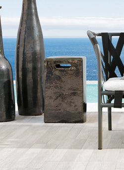 InOut 43 - Ceramic Side Table/Ottoman by Gervasoni | JANGEORGe Interior Design