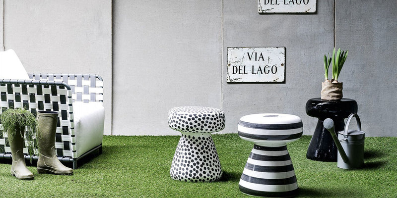 InOut 44 - Ceramic Side Table/Ottoman by Gervasoni | JANGEORGe Interior Design