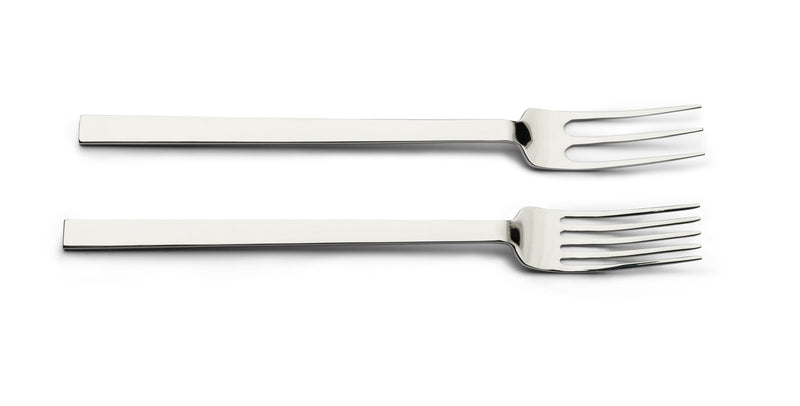 John Pawson Tableware Collection, Cutlery, 24 Pc. with 5 Prong Forks | When Objects Work | JANGEORGe Interior Design