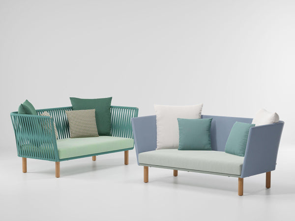 Bitta - 2-Seater Sofa Wood Legs by Kettal | JANGEORGe Interior Design