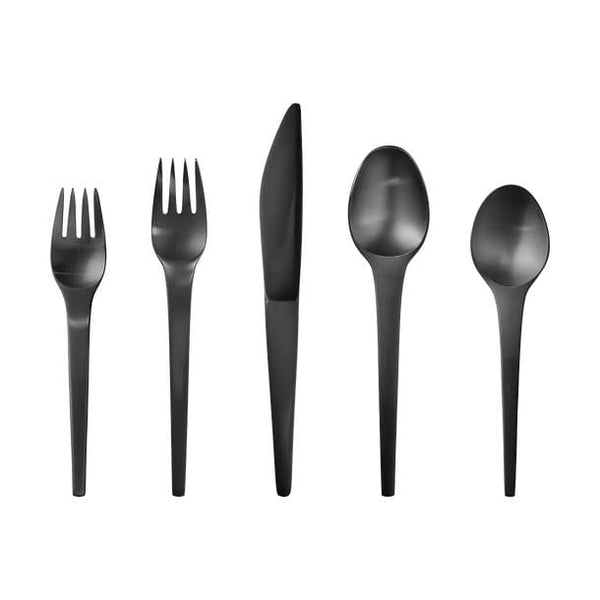 Caravel cutlery set, black PVD, 5 pieces (11,12,13,21,22) by Georg Jensen | JANGEORGe Interior Design