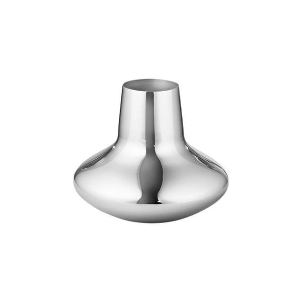 Koppel 100 - Small Vase in Stainless Steel, Mirror Finish by Georg Jensen | JANGEORGe Interior Design