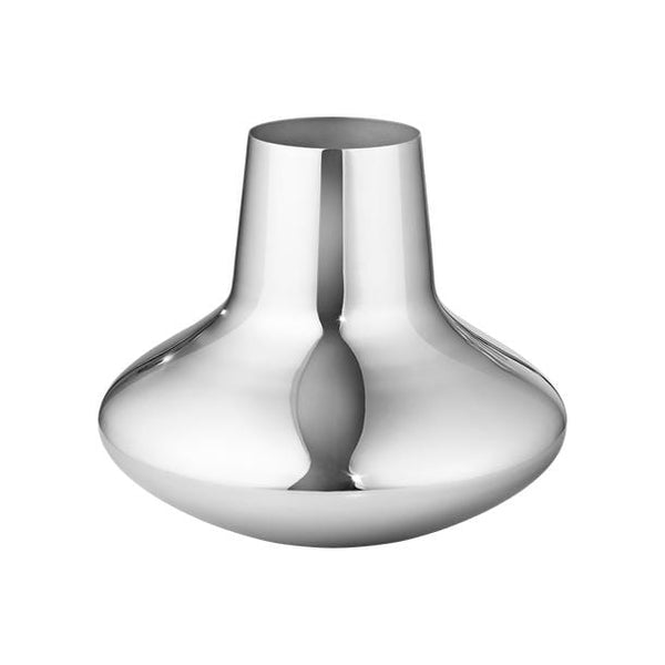 Koppel 100 - Medium Vase in Stainless Steel, Mirror Finish by Georg Jensen | JANGEORGe Interior Design