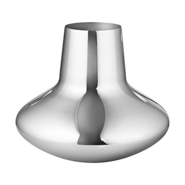 Koppel 100 - Large Vase in Stainless Steel, Mirror Finish by Georg Jensen | JANGEORGe Interior Design