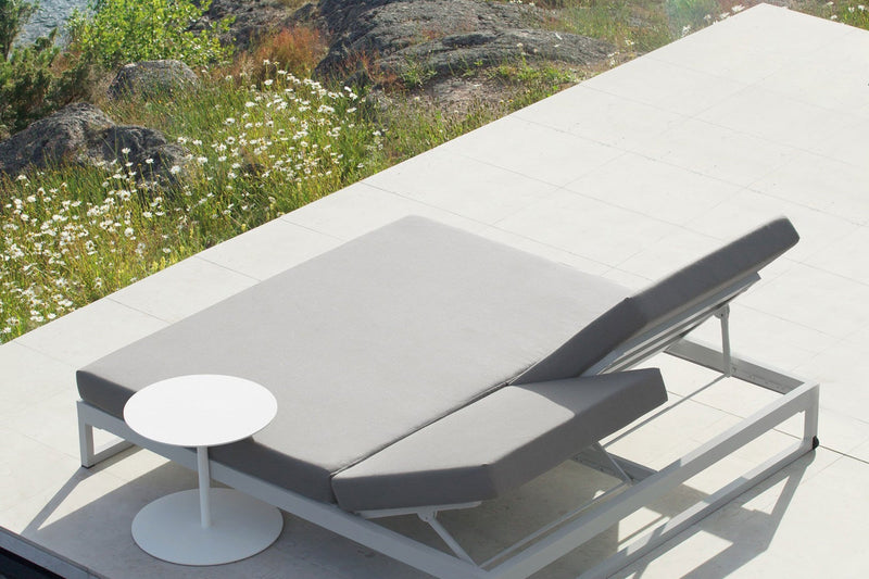 Landscape lounger double with 5-position backrest seat/back cushion (946147) | Kettal | JANGEORGe Interior Design