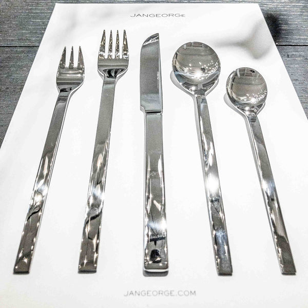 Mono A, 5-pc. Set with Knife 43, Polished Stainless Steel.