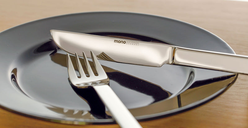 Mono A Polished Stainless Steel 5pc. Set with Knife 43 | Mono | JANGEORGe Interior Design