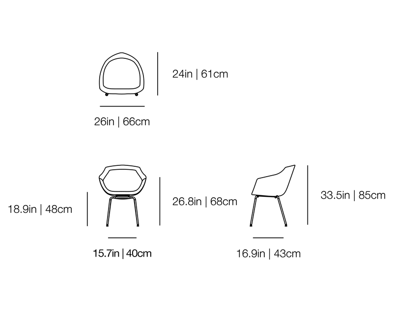 Canal Chair Ton Sur Ton Dining Chair
