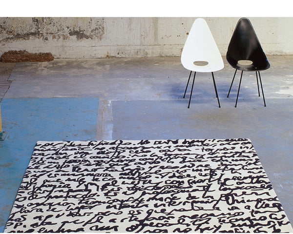 Black on White Rug, Manuscrit | Nanimarquina | JANGEORGe Interior Design
