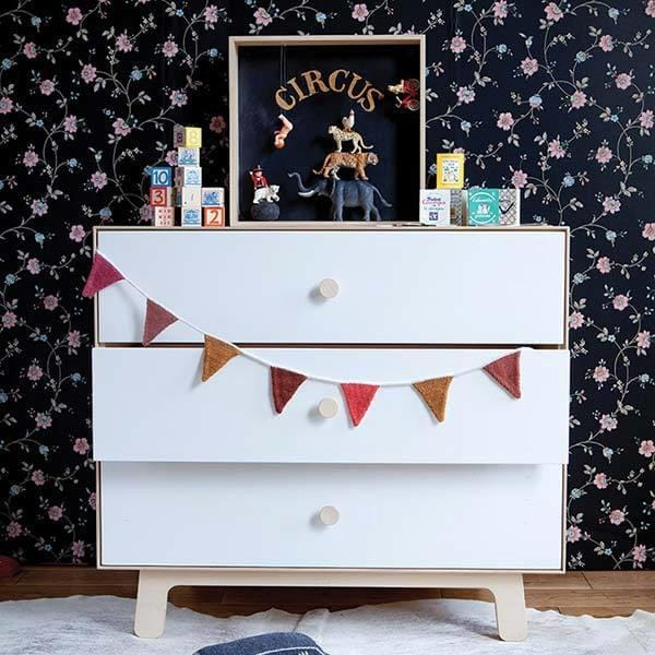 Sparrow 3 Drawer dresser by Oeuf | JANGEORGe Interior Design