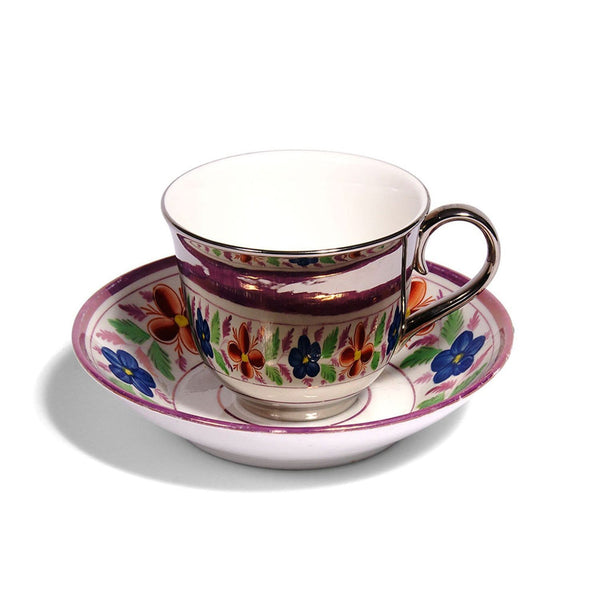 Reflect, Teacup and Vintage Saucer