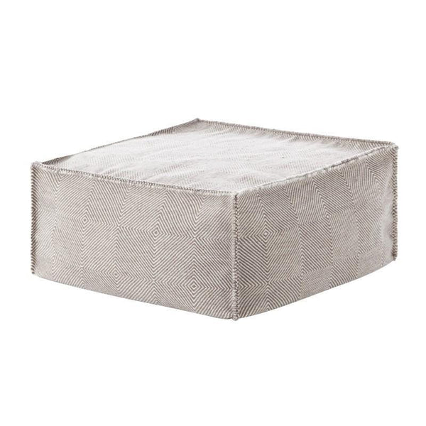 Sail - Square Pouf 100% New Wool | JANGEORGe Interior Design