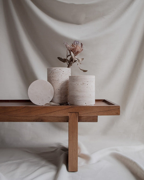 Bicci De' Medici Travertine Vase | Studio Waow | JANGEORGe Interior Design