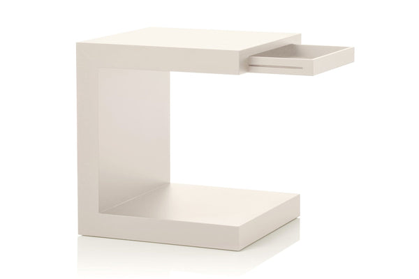 Aero - Small Wooden Night Table With Drawer | Tisettanta | JANGEORGe Interior Design