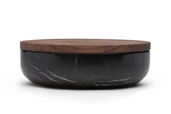 VVD - Natural Stone Pottery with 2cm Walnut Lid by When Objects Work | JANGEORGe Interior Design