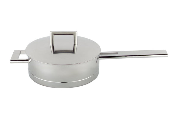 John Pawson - Low sauce pot with lid, Stainless steel by When Objects Work | JANGEORGe Interior Design