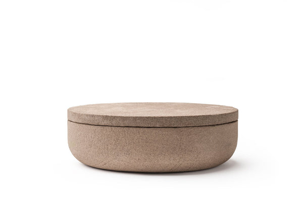 VVD Pottery 30x7cm with 2cm Iron Sandstone Diest Lid (3072) | When Objects Work | JANGEORGe Interior Design