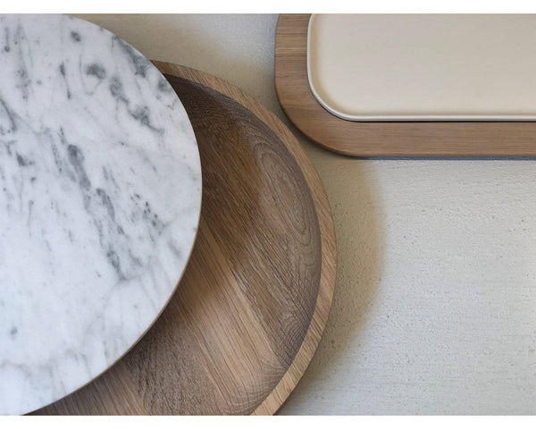 VVD Pottery 30x7cm with 1cm Marble Lid (3071) | When Objects Work | JANGEORGe Interior Design