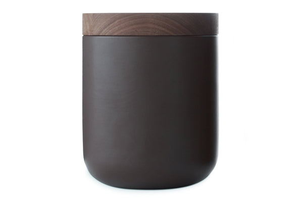VVD Pottery - Ceramic 15x17cm with 3cm Walnut Lid (15173) by When Objects Work | JANGEORGe Interior Design