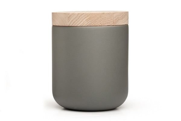 VVD Pottery - Ceramic 15x17cm with 3cm Oak Lid (15173) by When Objects Work | JANGEORGe Interior Design
