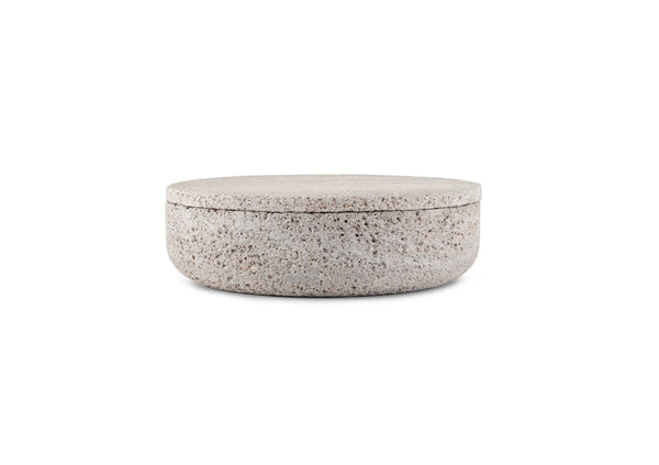 VVD Pottery - 30x7cm with 2cm Muschelkalk Stone Lid (3072) by When Objects Work | JANGEORGe Interior Design