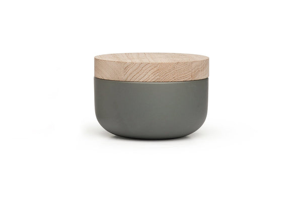 VVD Pottery - Ceramic 15x7cm with 3cm Oak Lid (1573) by When Objects Work | JANGEORGe Interior Design