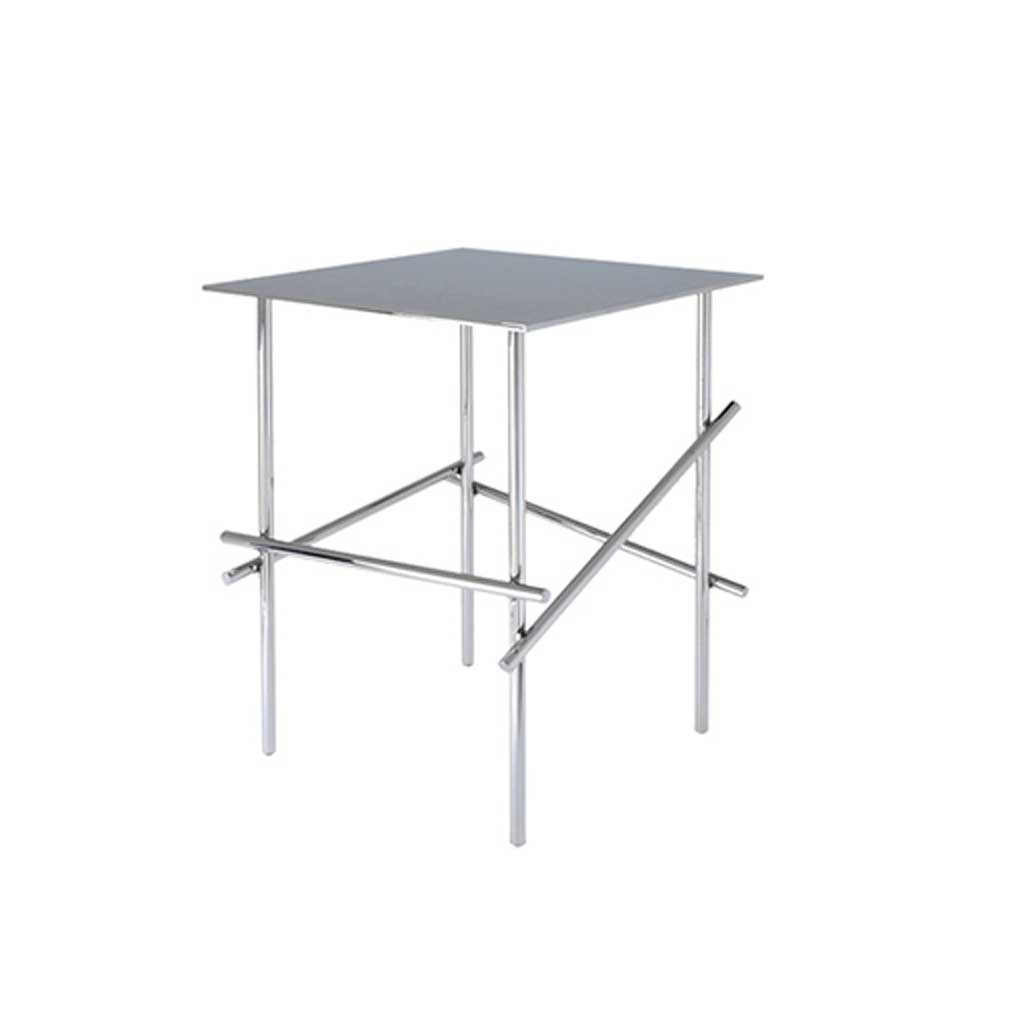 Shanghai Tip Chromed Table with Square Top