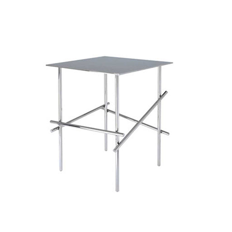 Shanghai Tip chromed steel table (square top)