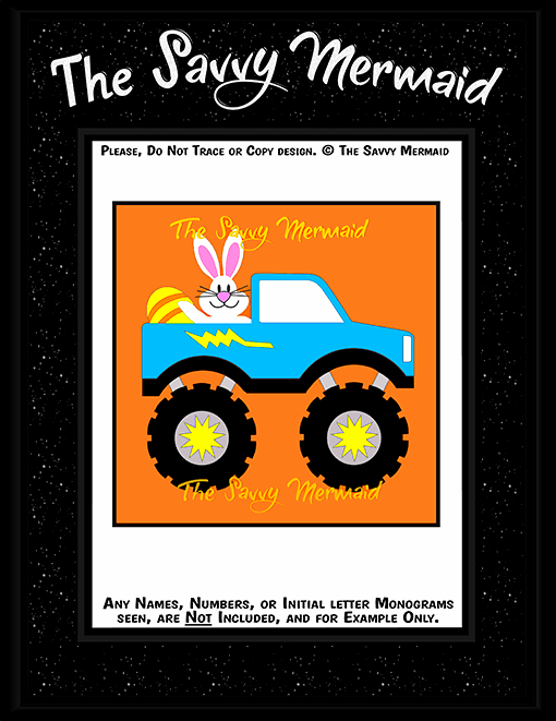 Easter Bunny Monster Truck - The Savvy Mermaid